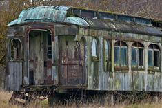 Abandoned railcar at Marsh Point, WA