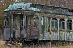 Abandoned railcar at Marsh Point, WA