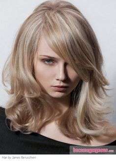 picture of a cool blonde to show my stylist that I DON'T want..haha