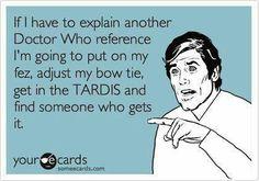 Explaining Doctor Who? Not again!