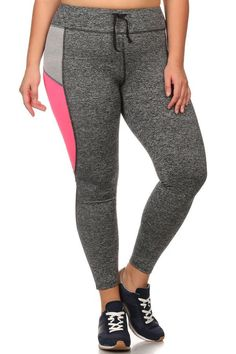 Plus Size Active Leggings with Adjustable Waistband Plus Size Clubwear, Plus Size Leggings, Plus Size Outfits, Must Haves, Perfect Fit, Sweatpants, My Style, Sexy, Fitness