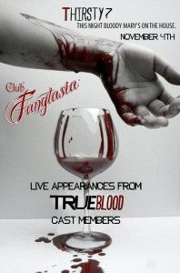 True Blood Club Fangtasia halloween Party Promo Poster 1
