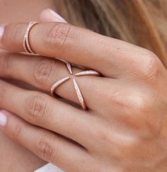 14kt rose gold and diamond Claws Out ring – Luna Skye by Samantha Conn