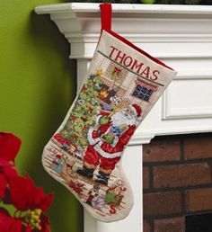 Classic Santa Christmas Stocking - Cross Stitch Kit