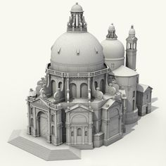 Historical Architecture modeling, Vesta Juoceviciute - Castles and palaces - Neoclassical Architecture, Baroque Architecture, Futuristic Architecture, Historical Architecture, Model Castle, Buildings Artwork, Architecture Presentation Board, Medieval Houses, Modelos 3d