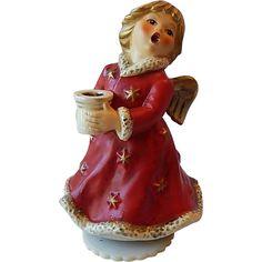 Goebel Angel Musical Figurine Candle Holder