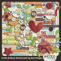 Is This Destiny? freebie kit ... elements on Facebook, papers, alpha, and journaling cards on blog (link)