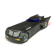 Batman Animated Series Batmobile | 24-inch long Batmobile from Batman: The Animated Series Fits two 6-inch actions figures in the cockpit Light-up dashboard, headlights, brakes, and engine