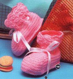 Arte e croche: receita sapatinho de bebe
