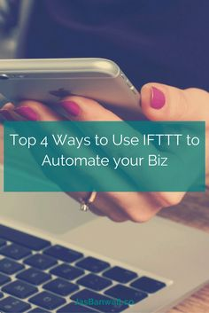 IFTTT recipes to automate your biz - here are 4 top ways I use IFTTT for social media, content, emails - click through to read! Online Marketing, Social Media Marketing, Digital Marketing, Successful Online Businesses, Marketing Automation, Community Manager, Growing Your Business, Social Media Tips, Blog Tips