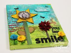 Paper Crafters Library - You Make Me Smile Canvas