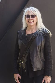 Even more women sporting fabulous long silver hair! | 40plusstyle.com