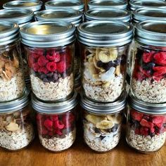 """Make mornings easier by prepping a week's worth of """"instant oatmeal"""" in mason jars."""
