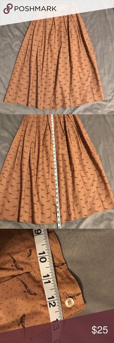 46b57e8a30df Vintage Nell Flowers Bird Skirt EUC Size 6 This gorgeous skirt is in EUC, no