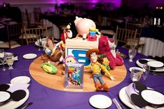 A New York Disney Wedding: Melissa + Aaron Magical Day Weddings A Wedding Atlas Fan Site for Disney Weddings Toy Story Centerpieces, Disney Wedding Centerpieces, Wedding Decorations, Centrepieces, Centerpiece Ideas, Disney Inspired Wedding, Disney Weddings, Wedding Disney, Themed Weddings