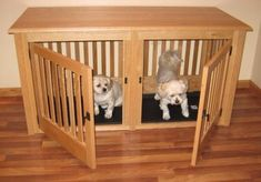 Wood Pet Crates by HuntRidge Ranch, Inc. are beautifully handcrafted and custom made to order.  No pressed or veneered woods are used. Our wooden