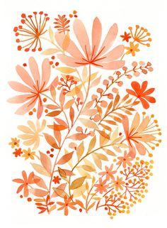 Resultado de imagen de flor naranja pastel vector