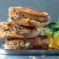 Or, you could lose the bread and heap the tuna mayo onto hot baked potatoes instead. Summer Recipes, My Recipes, Cooking Recipes, Tuna Mayo, Potato Crisps, Cooking Instructions, Fish Dishes, Daily Bread, Cooking Time