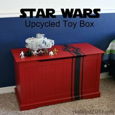 Star Wars Upcycled Toy Box {with Free Svg File
