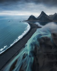 """Glacial rivers meet the black sand beaches and peaks of Iceland. Exploring this island and all of its volcanic beauty was a dream.\"" Photo by Places To Travel, Travel Destinations, Places To Visit, Vacation Travel, Travel List, Budget Travel, Travel Guide, Vacations, Landscape Photography"