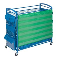 Honey-Can-Do All Purpose Teaching Cart, Blue. The perfect accessory for any classroom, this cart provides plenty of pockets and bins to store all of the teaching essentials. Side pockets on Classroom Setting, Classroom Setup, Classroom Design, Kindergarten Classroom, Future Classroom, Modern Classroom, Classroom Hacks, Montessori Elementary, Classroom Posters