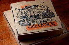 Villa Dolce's pizza box design, illustration |Modern Species
