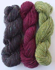 Eggplant Sample Yarn Pack https://www.etsy.com/listing/152223468/spinning-yarns-weaving-tales-eggplant