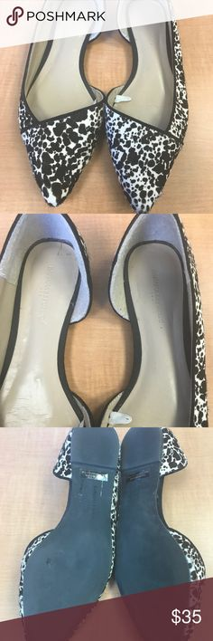 Banana Republic Calf Hair Flats | Size 8 Brown and white real calf hair. Size 8. Worn only a few times. In very good condition. Banana Republic Shoes Flats & Loafers