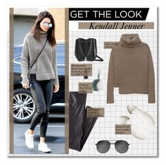 """""""get the look :: kendall jenner"""" by pastelmalfoy ❤ liked on Polyvore featuring Wrap, Yves Saint Laurent, Kenneth Cole and Fendi"""