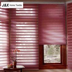 100%Polyester Translucent Luxury White Shangri la Blinds Zebra Blinds Customized…