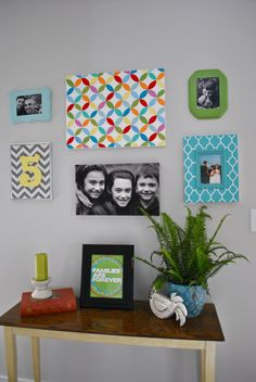 I have searched high and low for bright, happy art. It is hard to come by, especially on a budget. I've seen a couple of geometric patt...