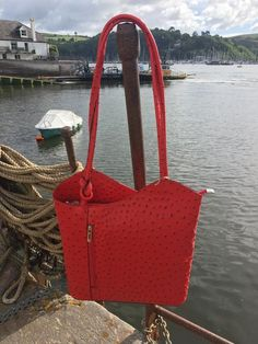 Shoulder Bag/Backpack - Red Leather #Danielli #Dartmouth #Devon #SWisBest #Tote #Handbag #Boutiques #ShoppingTime #ShoppingAddict #Style #MustHave