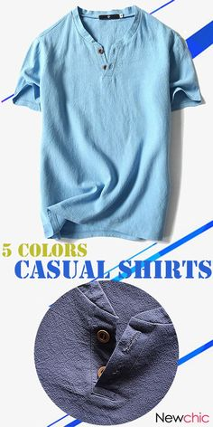 810041577667  US  14.52  Mens Summer Cotton Linen Solid Color Short Sleeve Casual T  Shirts