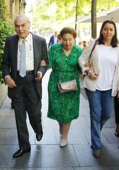 Spanish King Juan Carlos's sister Infanta Margarita, Duchess of Soria (C) and her husband Carlos Zurita are is seen, 12.05.2014 in Madrid, Spain