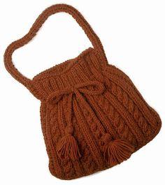 Knit bag, free pattern