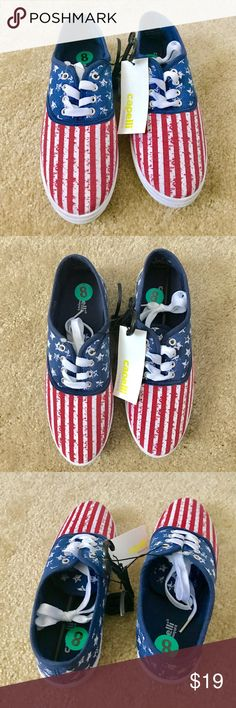 American Flag Sneakers ✔️NWT ✔️Sz8 Brand new with tags. Price: Fair and reasonable offer immediately accepted. Shipping: Ships within 24 hours. Capelli of New York Shoes Sneakers