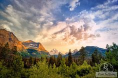 Image Title: GLACIER VALLEY SUNSET  Visit my full Etsy shop for more fine art photography items: www.Etsy.com/shop/ReneeSullivanPhoto  To order this image as an ALUMINUM METAL PRINT: www.etsy.com/listing/220343642  To order this image as a CANVAS GALLERY WRAP: www.etsy.com/listing/222008175  To order this image as a THROW PILLOW: www.etsy.com/listing/227173307  To order a matted / framed image - or an acrylic or canvas print - please see my website...