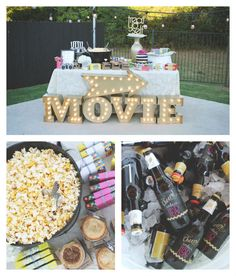 Outdoor Movie Night 30th Birthday Party