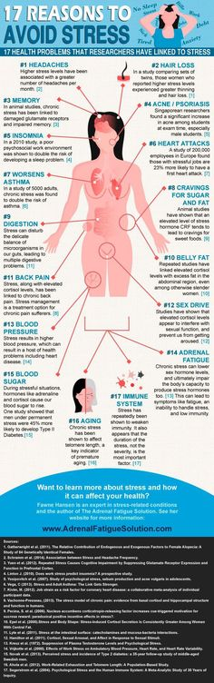 Stress management : 17 Reasons To Avoid Stress (Infographic)