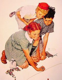 15 paintings of children playing