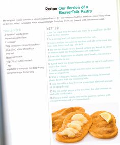 Beaver Tail Recipe| Mmm... I love beaver tails, reminds me of winters on the canal.