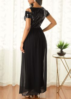Strappy Cold Shoulder Sequin Embellished Chiffon Overlay Jumpsuit | Rotita.com - USD $41.97 Dressy Dresses, Dress Outfits, Cool Outfits, Fashion Dresses, Lace Jumpsuit, Jumpsuits For Women, African Fashion, Plus Size Outfits, Cold Shoulder