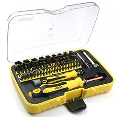 VOXON Screwdriver Set Precision Repair Tool Kit 70 in 1 with 65 Bits Magnetic Driver Kit Professional Screwdriver Kit for iPhone 8 8 Plus/ iPad/ Smartphone/ Game Console/ Tablet/ PC etc