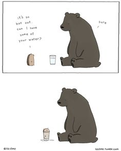 Animals Hot Out Lobster is the Best Medicine: Funny and Witty Comics about Friendship by Liz Climo Witty Comics, Comics Und Cartoons, Fun Comics, Funny Cartoons, Funny Animal Comics, Funny Animal Memes, Funny Animals, Cute Animals, Funny Memes