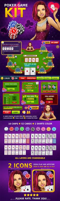 Poker Game Assets - Game Kits Game Assets