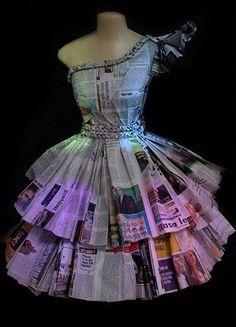 Vestido de periódico
