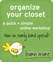 Does your closet need some organizing TLC? Join me for this!