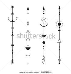 geometric arrow tattoo designs - Google Search