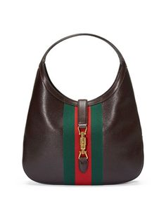 L0MW1 Gucci Jackie Soft Leather Hobo Bag