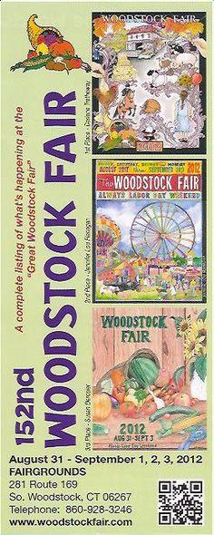 The Woodstock Fair - Woodstock CT  this years ticket